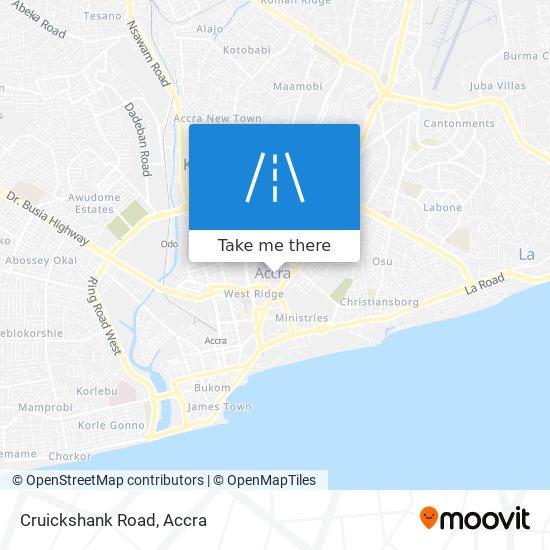 Cruickshank Road map