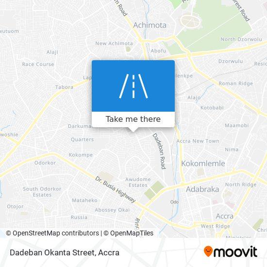 Dadeban Okanta Street map