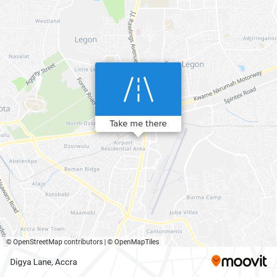 Digya Lane map
