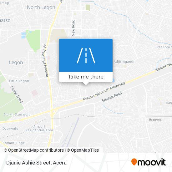 Djanie Ashie Street map