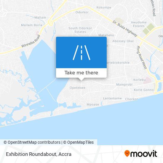 Exhibition Roundabout map