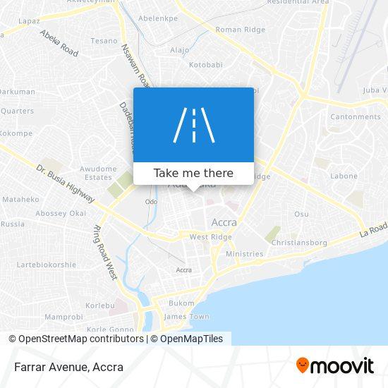 Farrar Avenue map