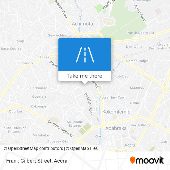 Frank Gilbert Street map