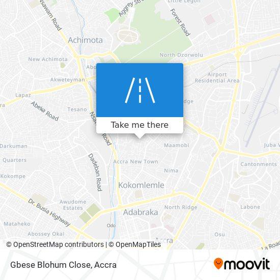 Gbese Blohum Close map
