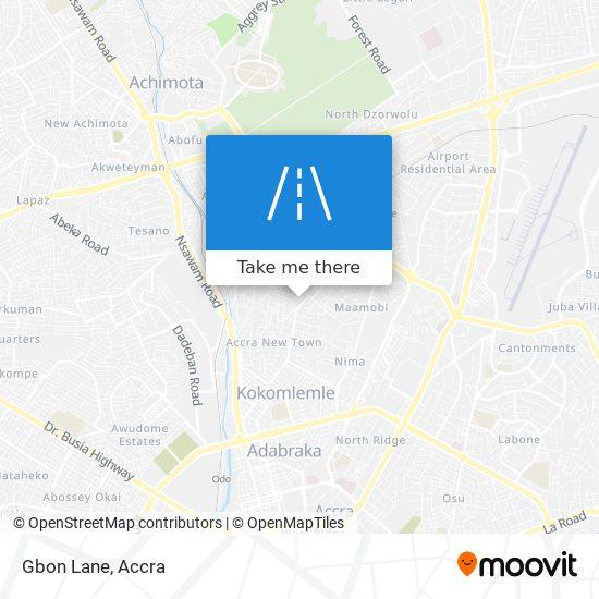 Gbon Lane map