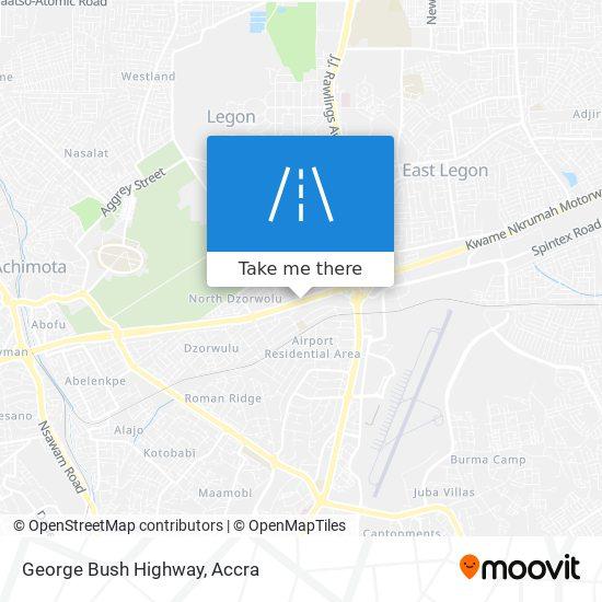George Bush Highway map