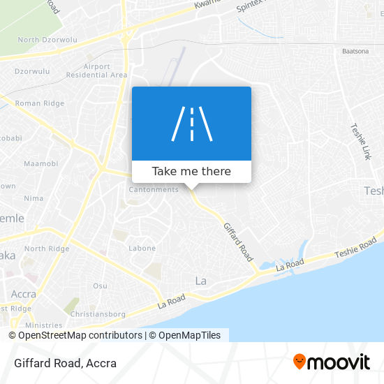 Giffard Road map