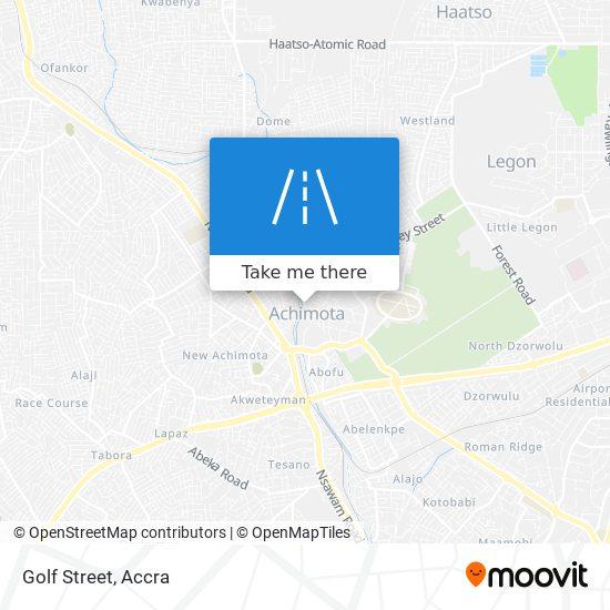 Golf Street map