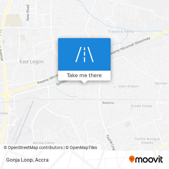 Gonja Loop map