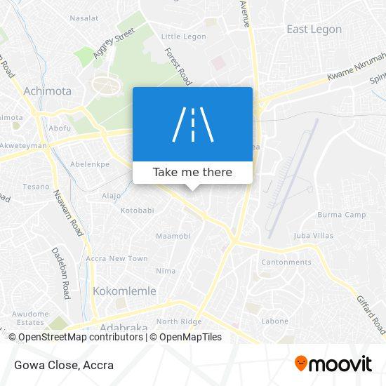 Gowa Close map
