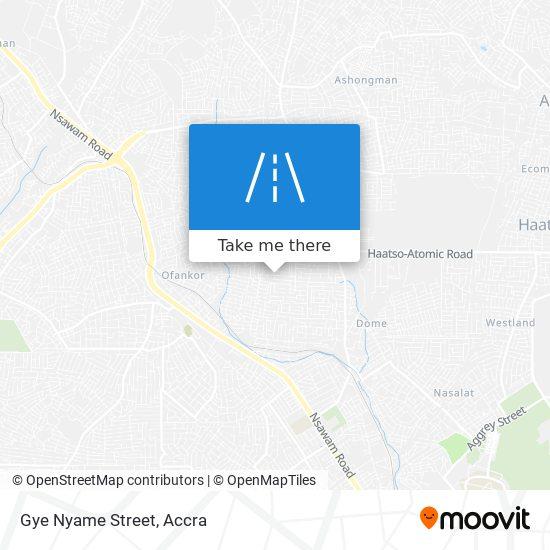 Gye Nyame Street map