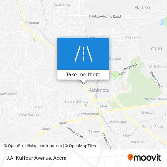 J.A. Kuffour Avenue map