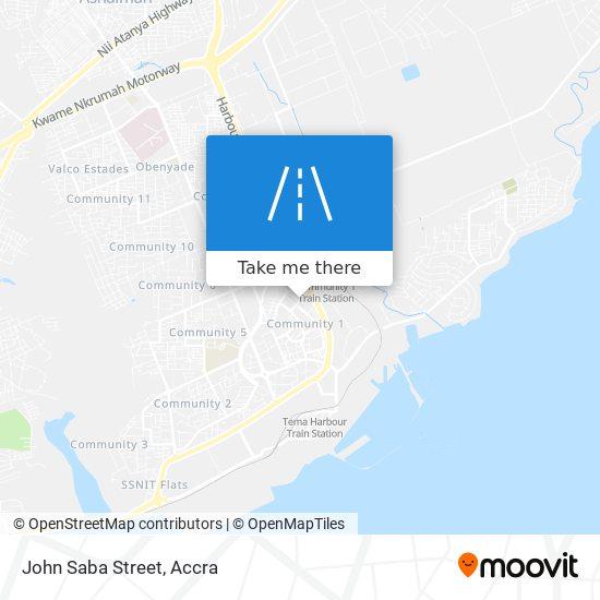John Saba Street map