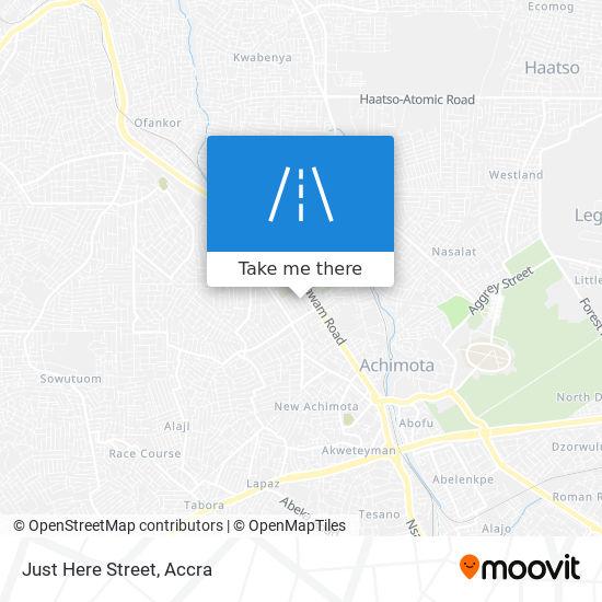 Just Here Street map