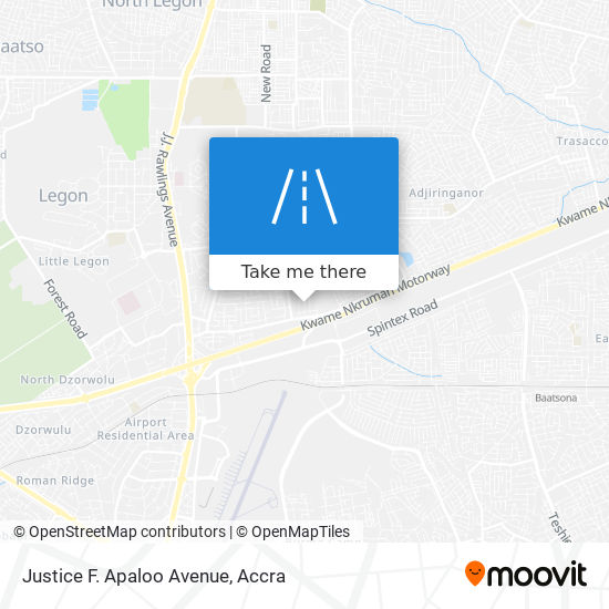 Justice F. Apaloo Avenue map
