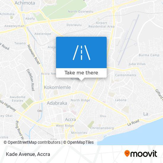 Kade Avenue map