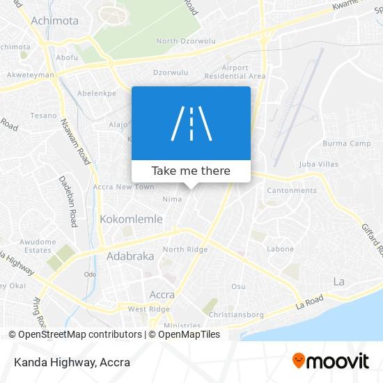 Kanda Highway map