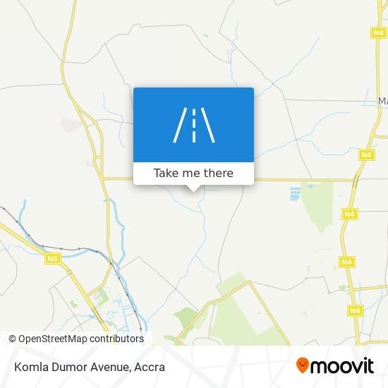 Komla Dumor Avenue map