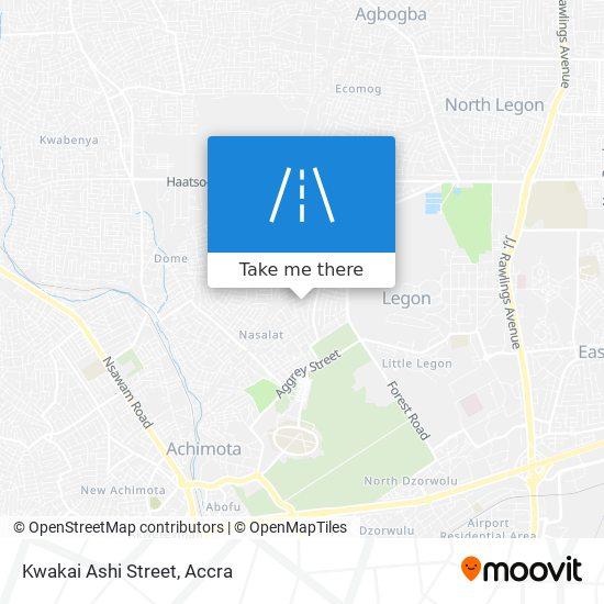 Kwakai Ashi Street map