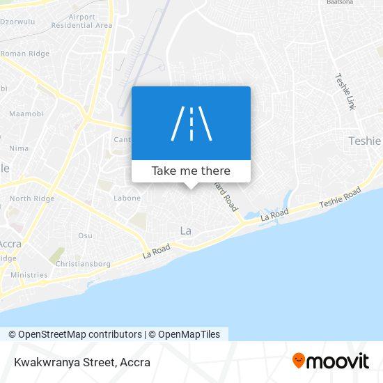 Kwakwranya Street map