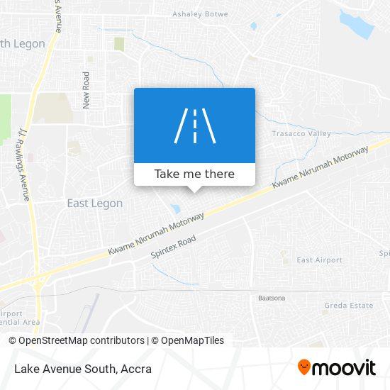 Lake Avenue South map