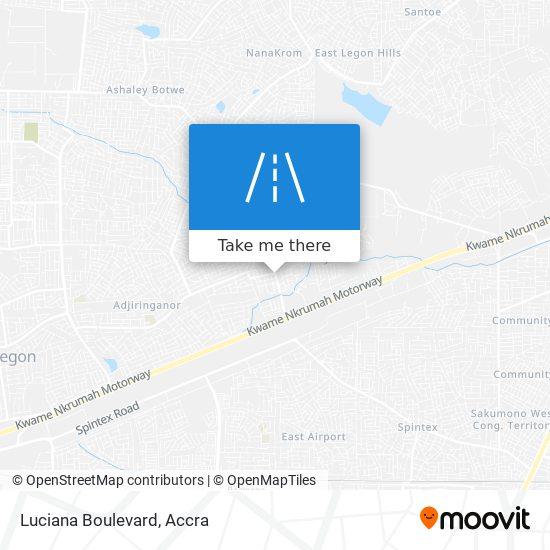 Luciana Boulevard map