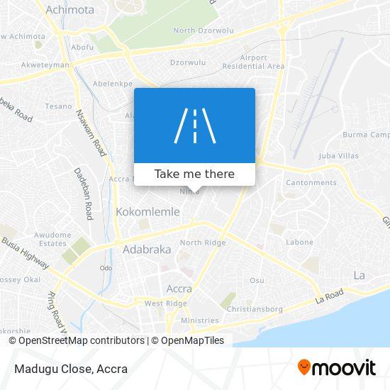 Madugu Close map