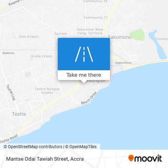 Mantse Odai Tawiah Street map