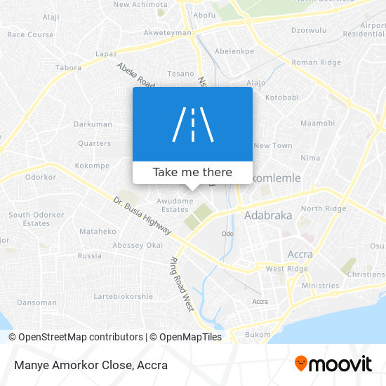 Manye Amorkor Close map
