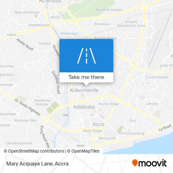 Mary Acquaye Lane map