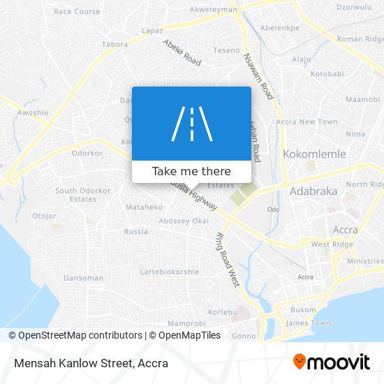 Mensah Kanlow Street map