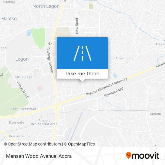 Mensah Wood Avenue map
