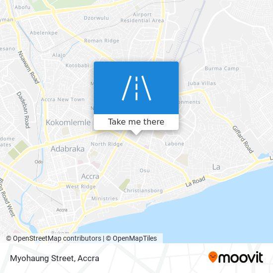 Myohaung Street map