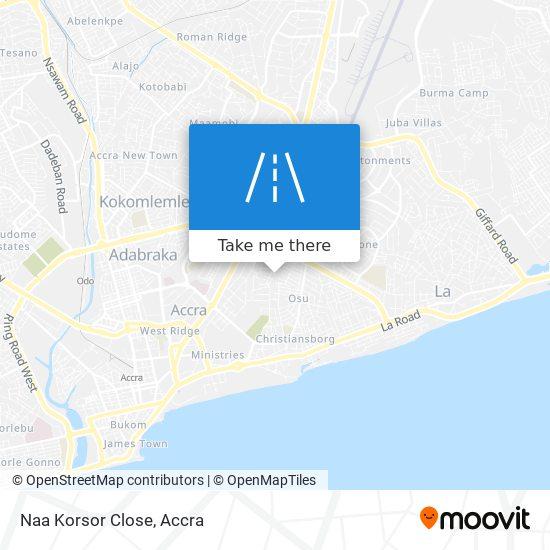 Naa Korsor Close map