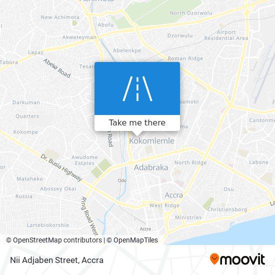 Nii Adjaben Street map