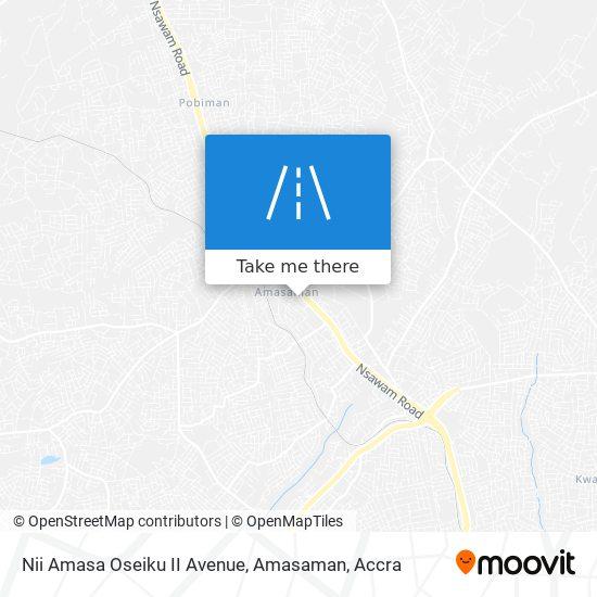 Nii Amasa Oseiku II Avenue, Amasaman map