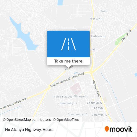 Nii Atanya Highway map