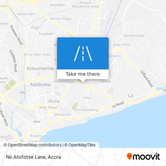 Nii Atofotse Lane map