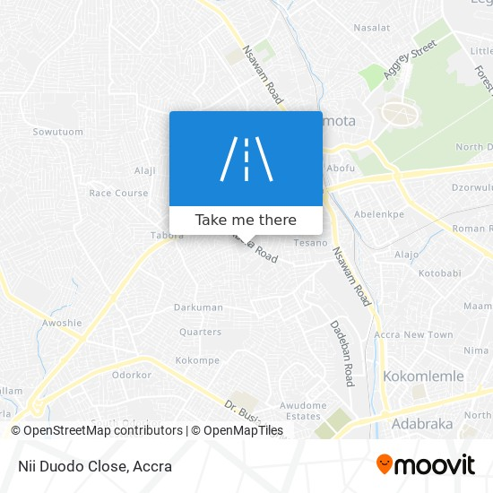 Nii Duodo Close map