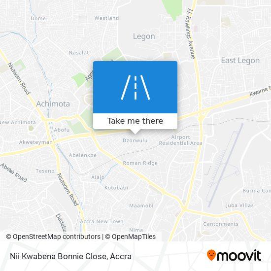 Nii Kwabena Bonnie Close map