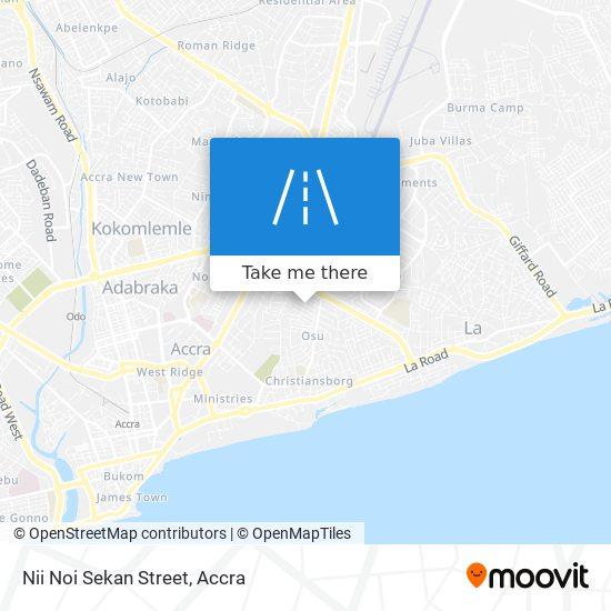Nii Noi Sekan Street map