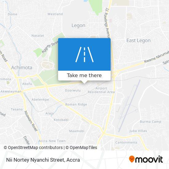 Nii Nortey Nyanchi Street map