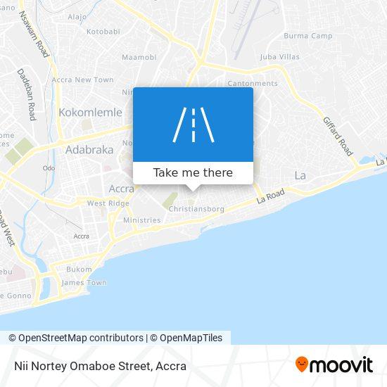 Nii Nortey Omaboe Street map