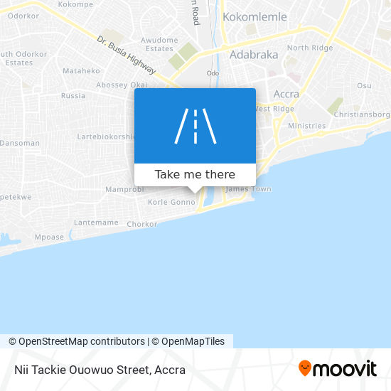 Nii Tackie Ouowuo Street map