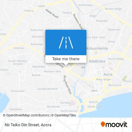 Nii Teiko Din Street map