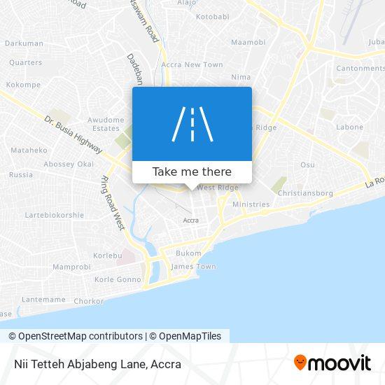 Nii Tetteh Abjabeng Lane map