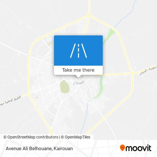 Avenue Ali Belhouane plan