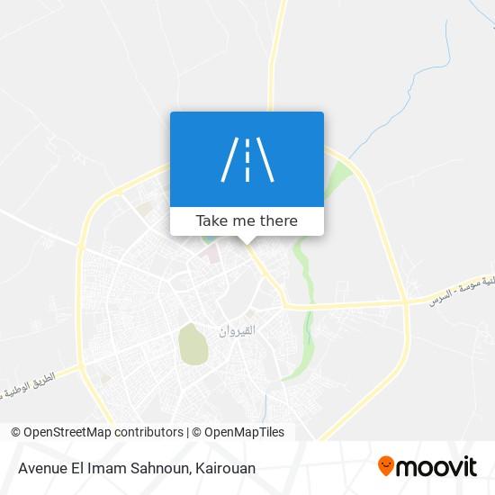 Avenue El Imam Sahnoun plan