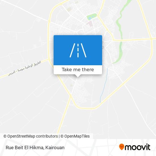 Rue Beit El Hikma plan