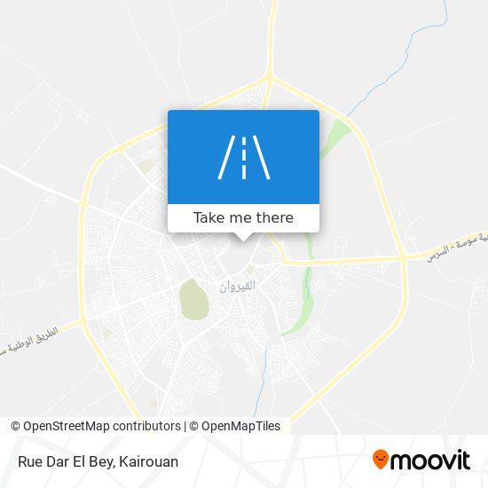 Rue Dar El Bey plan
